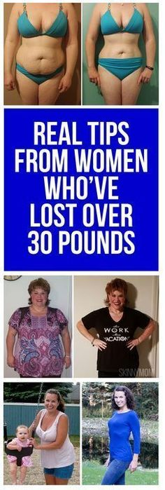 Get tips from women who've lost the weight!