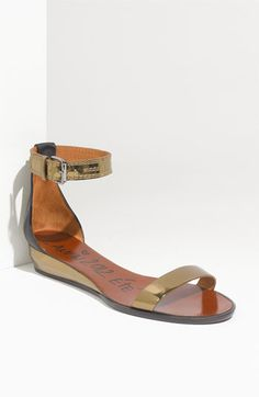Lanvin Ankle Strap Wedge Sandal - tried these on at Neiman...fell in love <3
