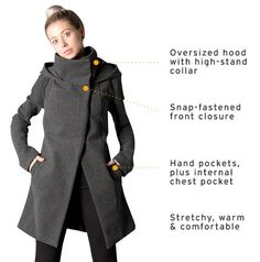 A women's Swing Coat From Project Runway's Melissa Fleis and Betabrand