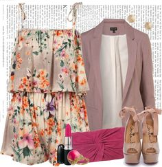 """Floral Jumpsuit Chic."" by danekaelizabeth on Polyvore"