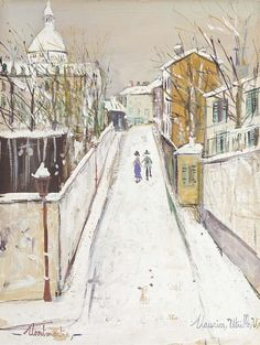 'Montmartre' by Maurice Utrillo (1883-1955, France)