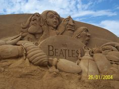 Sand Sculptures- The Beatles