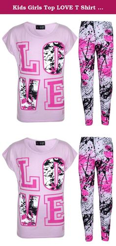 Kids Girls Top LOVE T Shirt & Splash Print Fashion Legging Set Age 7-13 Years. Shop With Confidence✔ Simple Returns✔ 30 Days Returns/Exchanges Accepted✔ All Orders Dispatched Within 24 HOURS✔ Here Is New Girls LOVE Print Trendy Top & Splash Print Fashion Legging Sets. Available Size; Age 7-8 Year 9-10 Year 11-12 Year & 13 years. Available Color; Black, Baby Pink, Neon Pink & White. 95% Viscose And 5 % Elastane. Thanks for Looking Check Out My Other Items! .