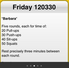 Crossfit WOD at home.