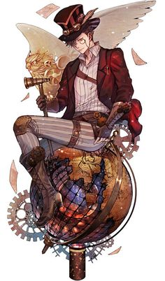 Desperate to see so many fantastic fan-arts, but without being able to understand… You are in the right place about Steampunk Fashion men's Here we offer you the Haikyuu Nekoma, Kuroo Tetsurou, Haikyuu Fanart, Haikyuu Anime, Oikawa, Steampunk Boy, Arte Steampunk, Steampunk Fashion, Fantasy Male