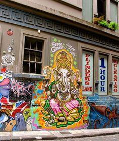 Ganesh, Hosier lane, Melbourne