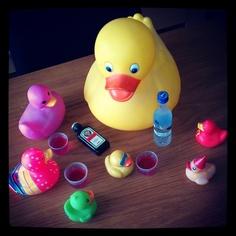 Pre-drinks, duck duck GOOSE!