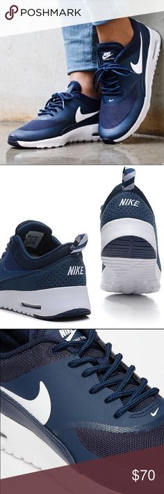 BRAND NEW Air max Thea navy blue! I got these as a gift and didn't fit me. Just tried them on! No box! Nike Shoes Athletic Shoes