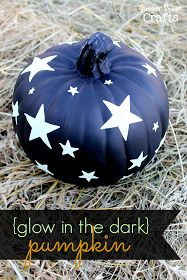 Ginger Snap Crafts: Glow in the Dark Pumpkin #StickorTreat