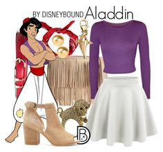 """Aladdin"" by leslieakay ❤ liked on Polyvore featuring B-Low the Belt, Brooks Brothers, WearAll, LE3NO, Miso, Disney, Snö Of Sweden, Sole Society, disney and disneybound"