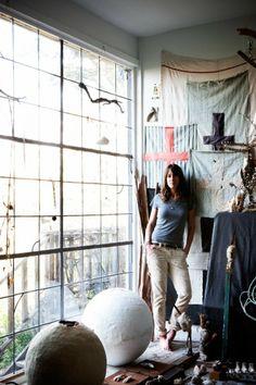 paul raeside, interior photographer, artist studio, caitlin wylde, artist, LA