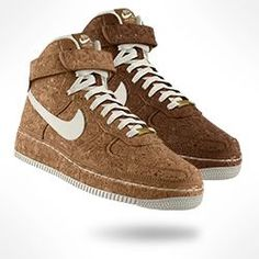 The Nike Air Force 1 High Premium iD Shoe, now made in cork!