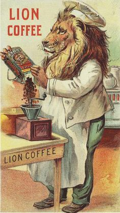 Lion Coffee poster