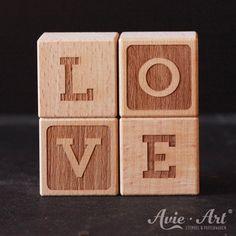 Buchstabenwürfel - A negativ | Buchstabenwürfel | Dekoration | Avie-Art - PERSONALISIERTE STEMPEL