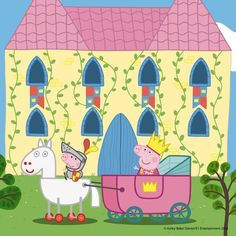 Resultado de imagen para bienvenidos a mi fiesta Peppa cerdo Peppa Pig Castle, Pig Party, Coloring Books, Fairy Tales, Snoopy, Kawaii, Cartoon, Princess, Mini