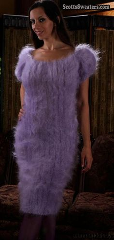 610-087 Woman's Lilac Mohair Sweaterdress