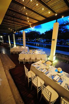 Terrace at Catalinas Restaurant Reserva Conchal pool deck Photo from katie & anthony - wpc collection by El Velo Photography