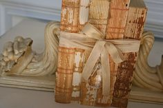 Olde books, down to the spine, displayed...awesome!!!