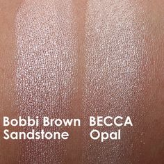 Howdy, highlights! Swatches of the Bobbi Brown Sandstone Shimmer Brick