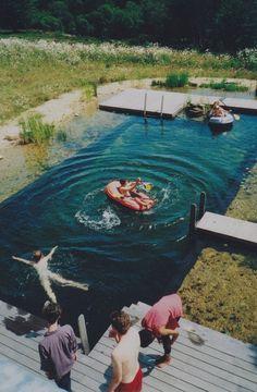 make a pool look like a lake