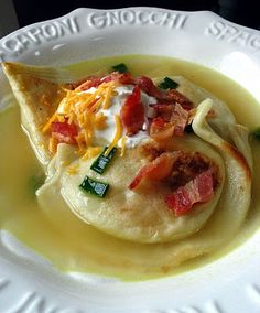 15 Minute Pierogi Soup | Big Red Kitchen - a regular gathering of distinguished guests