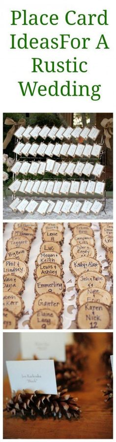 Rustic Wedding Place Card Display Ideas - Rustic Wedding Chic