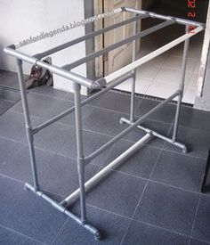 45 ideas clothes rack diy pvc pipes for 2019 # diy # for # ideas # clothes rack . Pvc Pipe Crafts, Pvc Pipe Projects, Lathe Projects, Diy Clothes Rack Pvc, Pvc Pipe Furniture, Tube Pvc, Laundry Rack, Do It Yourself Furniture, Diy Kleidung