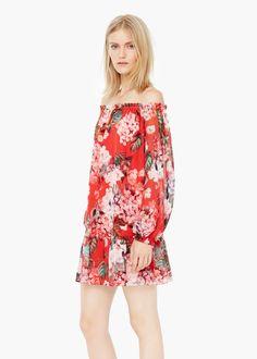 Vestido fluido floral