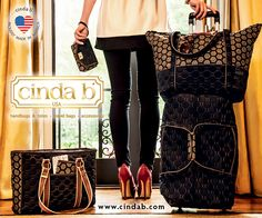 American made cinda b bags make great gifts- or buy one for your own holiday travels!