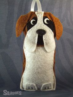 Felt Dog Christmas Ornament -   Hampstead the Saint Bernard