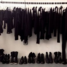....what my closet looks like in winter!  Bring on the spring!  And colour!!