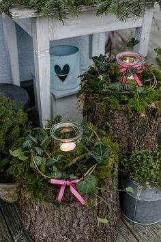 Weihnachtlicher Zauber im Novembergarten • Pomponetti #adbent #deko #garten #weckglas