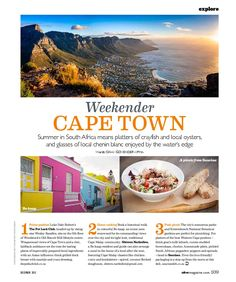 CAPE TOWN FOOD GUIDE 10 of the best spots to eat and drink the Cape Town for Olive Magazine UK. It's a glorious place to feast in summer. Chenin Blanc, Sauce, Woodstock, Cape Town, Oysters, South Africa, Picnic, Traveling, Magazine