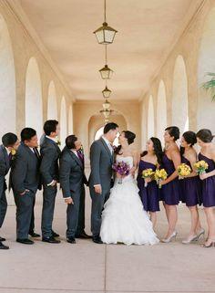 Purple theme wedding
