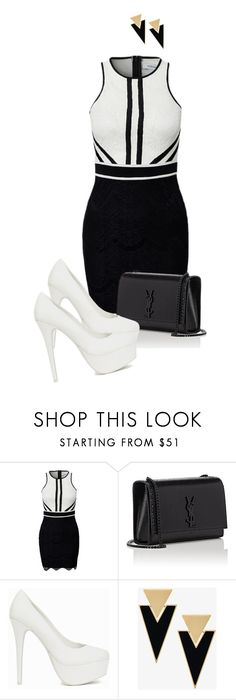 """La tempestad ep 65"" by xrisavladi ❤ liked on Polyvore featuring Yves Saint Laurent and Nly Shoes"