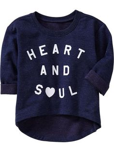 Old Navy Graphic Terry Pullovers For Baby - Heather denim