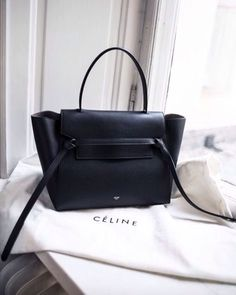 leather tote #celine