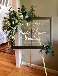 Wedding Welcome Decal- Personalized Couples Names and Dates-Mirror Decal-Bridal Shower-Wedding Welcome Sign-Heart Wedding Mirror Vinyl Decal Simple Wedding Decorations, Simple Weddings, Wedding Welcome Board, Bridal Shower Welcome Sign, Mirror Vinyl, Mirror Glass, Beveled Mirror, Wedding Planner Notebook, Wedding Mirror