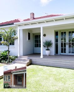 House Paint Exterior, Exterior House Colors, Exterior Design, Weatherboard House, House Front Porch, Facade House, Home Reno, House Goals, House Painting