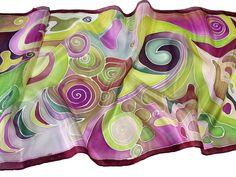 hand painted silk scarf - www.silkyway.hu/english