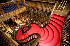 praise of Porto: How the ancient city has become a fashionable contender Porto, Portugal: The beautiful Lello bookshop is said to have inspired author J. RowlingPorto, Portugal: The beautiful Lello bookshop is said to have inspired author J. Livraria Lello Porto, Types Of Stairs, Harry Potter, Porto Portugal, Commercial Architecture, Weekend Breaks, Grand Staircase, Deco, Stairways