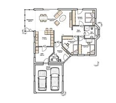 Boston floor_plans 0 House Layout Plans, My House Plans, House Layouts, House Floor Plans, Craftsman Floor Plans, Corner House, Apartment Layout, Garage House, Architecture Plan
