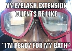 My clients go to the extreme when it comes taking care of their lash extension. Follow me on iG. iMMACULATE.u