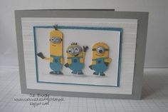 Stampin' Up! UK Demonstrator Abi Bundy: Mionions and minions and minions Minions, Minion Card, Boy Cards, Kids Cards, Cute Cards, Minion Birthday, Kids Birthday Cards, Punch Art Cards, Disney Cards