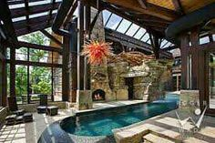 Indoor pool with lots of light