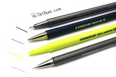 The Staedtler Triplus Mobile Office Set is the perfect way to carry all of your office necessities wherever you go! Two different pen types, a pencil, and a highlighter will help you keep notes organized, and the instruments are all housed in a plastic easel box.