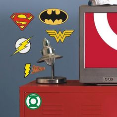 RoomMates DC Superhero Logos Peel and Stick Giant Wall Decals