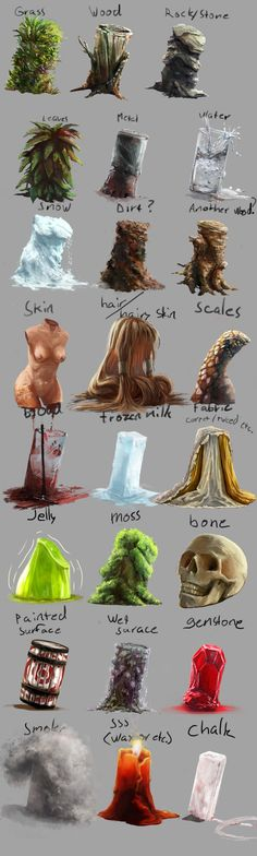 Material and texture study by *BiwerVincent on deviantART