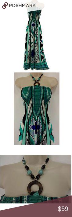 Selling this Size 3X BEADED HALTER PRINT MAXI DRESS Plus Size in my Poshmark closet! My username is: sexycurvygirls. #shopmycloset #poshmark #fashion #shopping #style #forsale #MAGIC #Dresses & Skirts