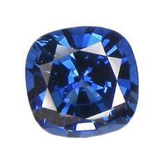 Blue Cushion Created Sapphire Facet 9mm